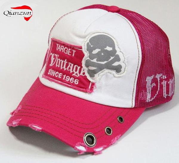 81b96761 China Vintage Distressed Skull Patch Trucker Hat - China Vintage Baseball  Caps, Custom Trucker Hat
