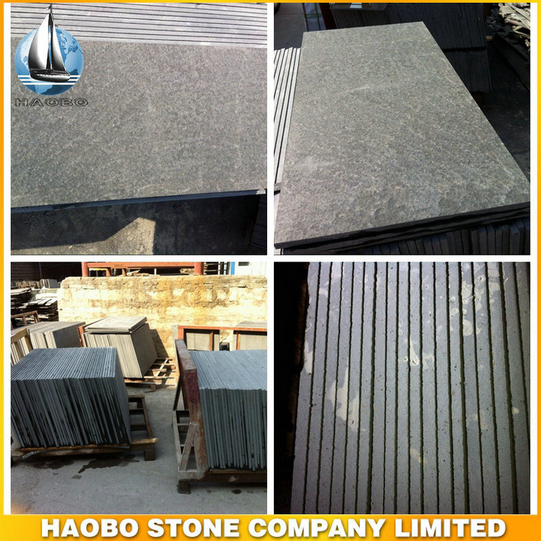 China Cheap Flamed Mongalia Black Floor Tiles And Slabs China Blue