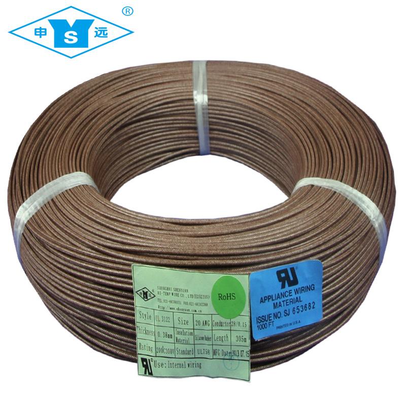 China High Temp. Silicone Rubber Fiberglass Braided Wire - China ...