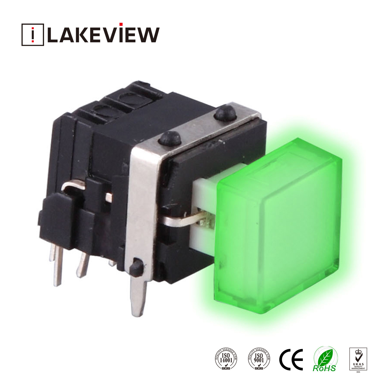China Round 2p2t Circuit LED Illuminated Push Button Micro Switch ...