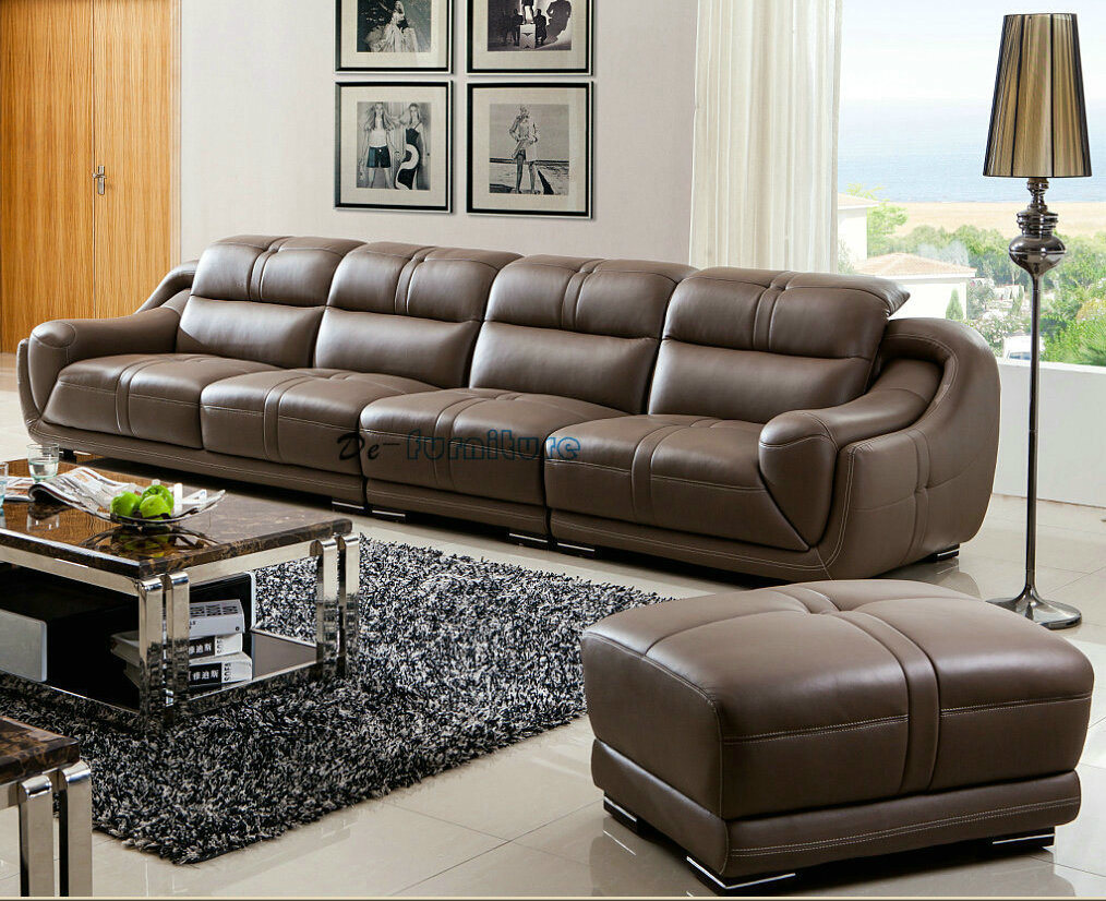 China 4 Seater Top Grain Leather Sofa Hotel Lobby Furniture (A849 ...