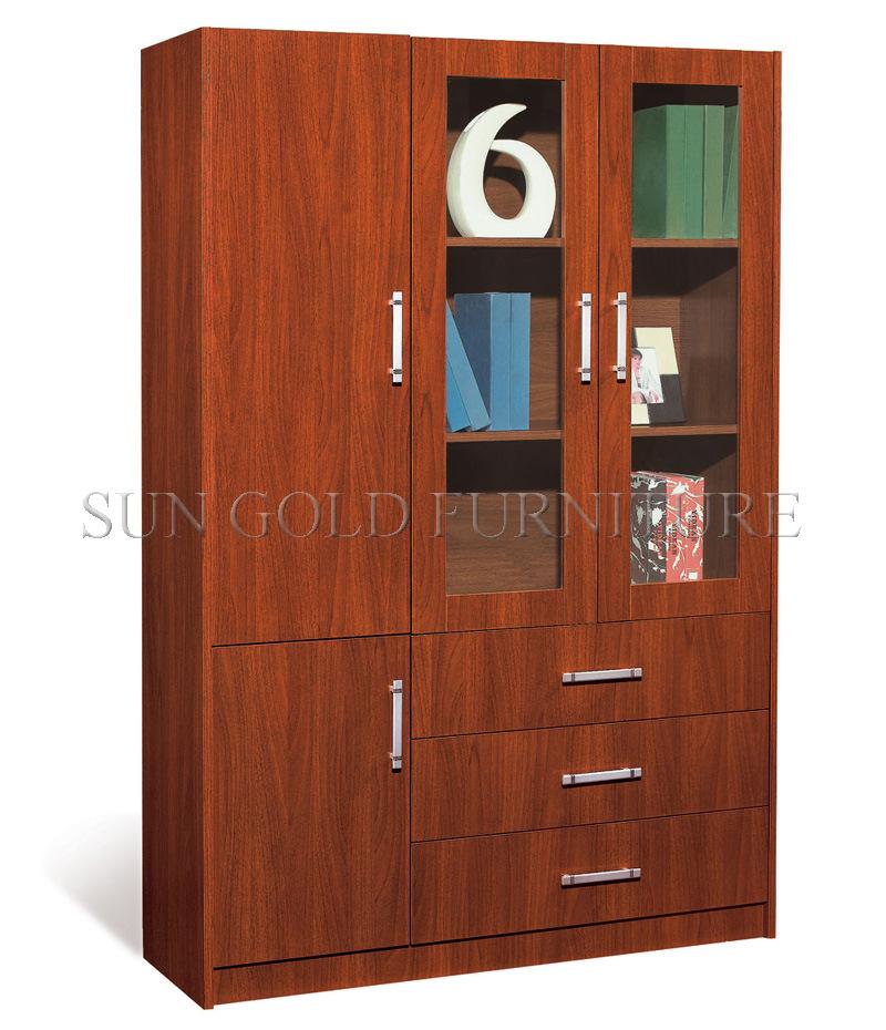Design Wooden Book Rack Modern Office File Cabinet Sz Fct606