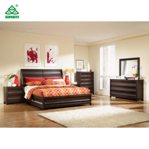 [Hot Item] Teenage Hotel Bedroom Furniture Sets Dark Brown English /  American Style