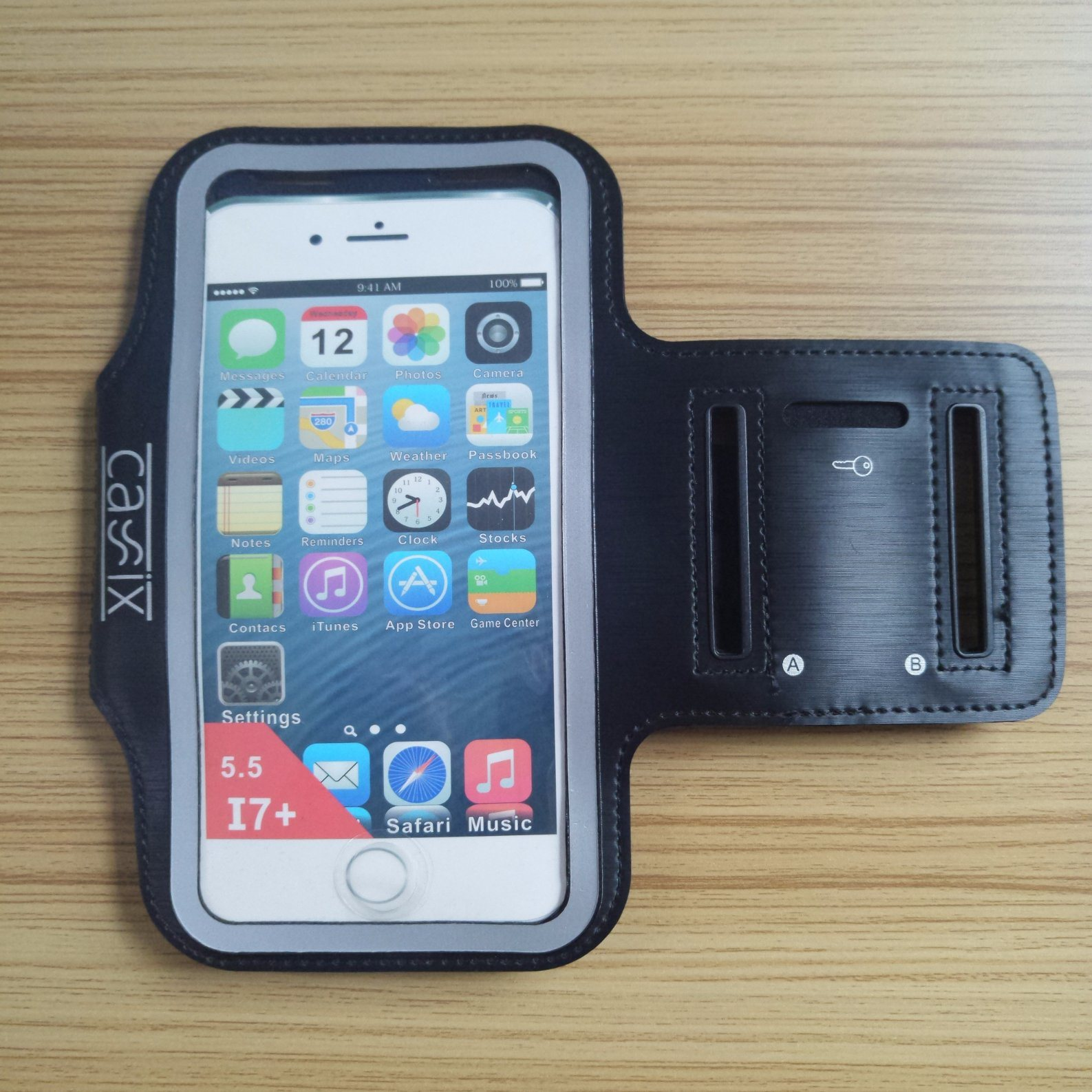 [Hot Item] OEM Logo Rain/Sweat Proof Running Case Arm Band for iPhone  Android