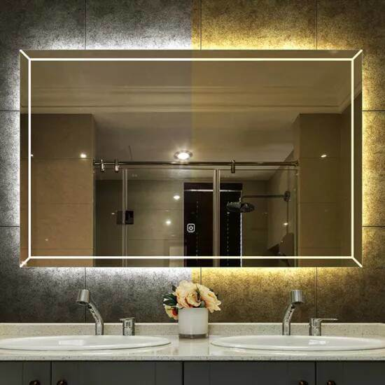 China Defogging Heated Led Poleless, Defog Bathroom Mirror