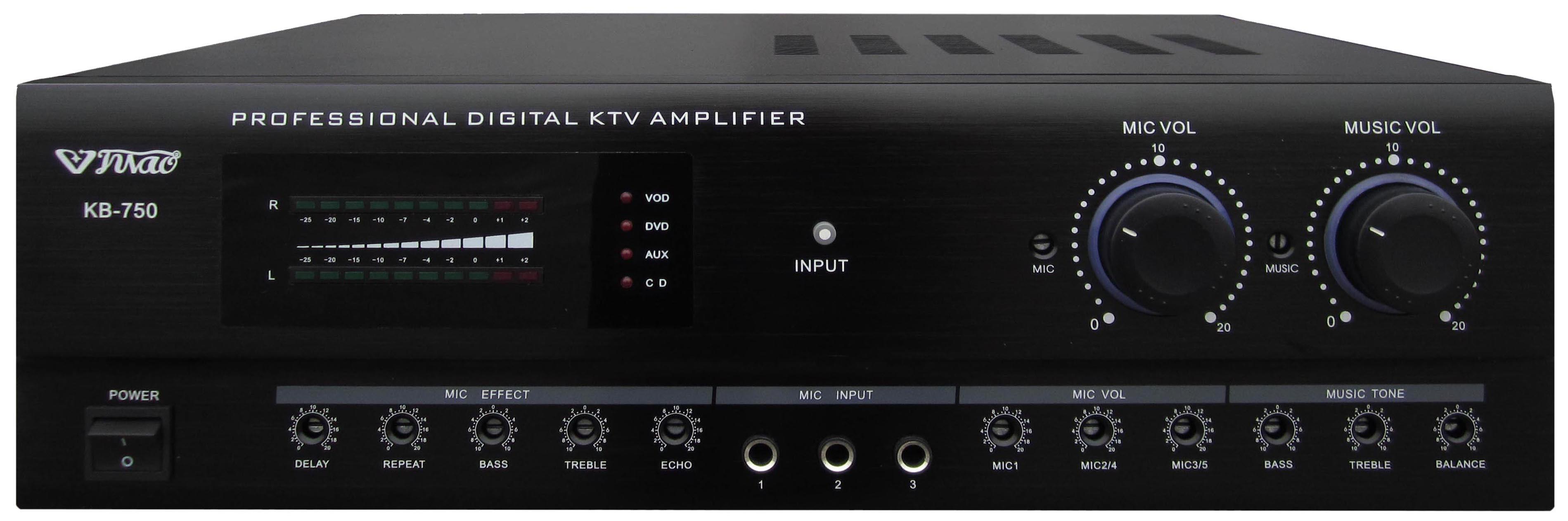 China 250 Watt 2 Channel Lcd Display Screen Karaoke Pro Power 25 Amplifier Kb750