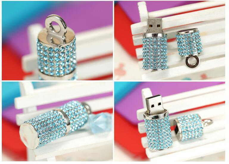 Lipstick Style Jewellry Diamond Gift USB Flash Memory pictures & photos