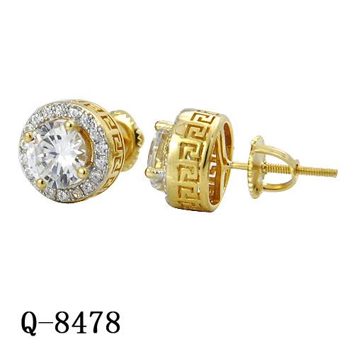 New Model Silver Diamond Earrings Hip Hop Jewelry