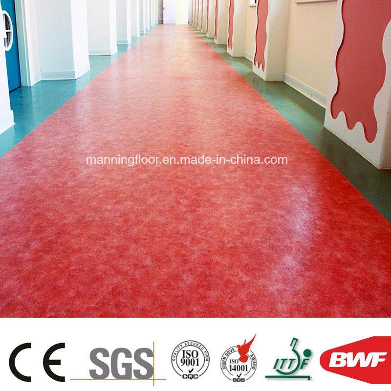 China Red High Quality Pvc Flooring