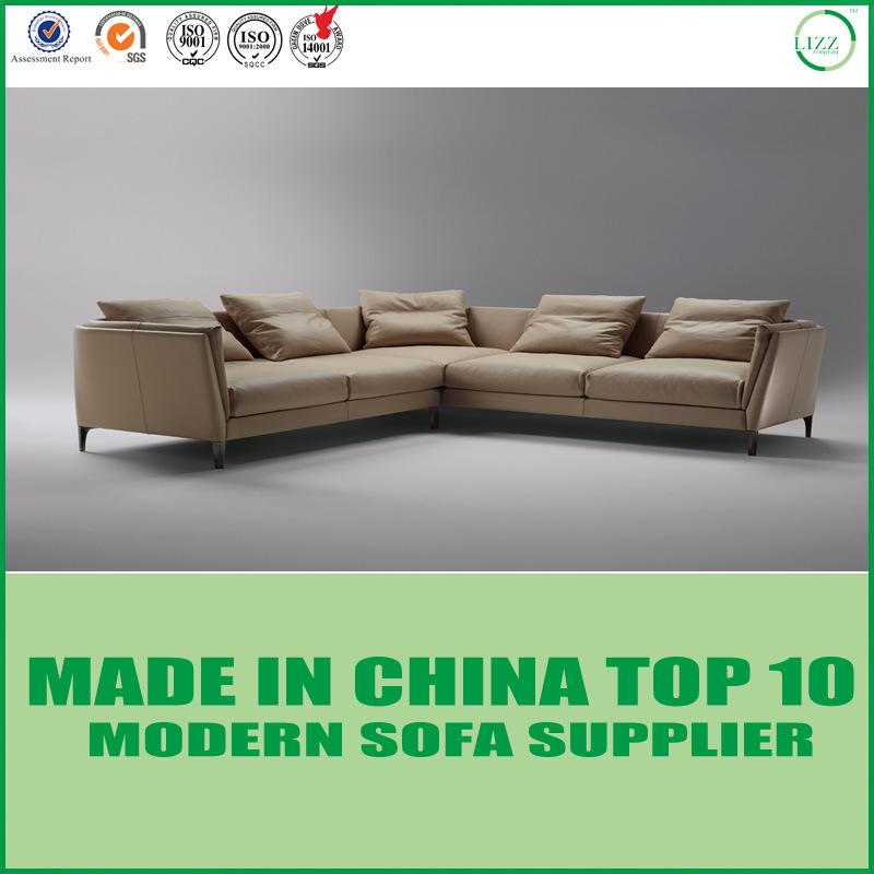 [Hot Item] Living Room Modern Corner Leather Sofa Set for Home