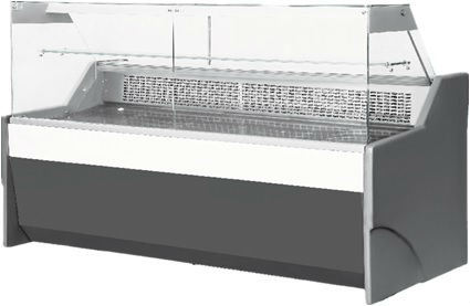 Rectangle Swing Glass Sliding Door Service Counter Showcase With Sweat Free