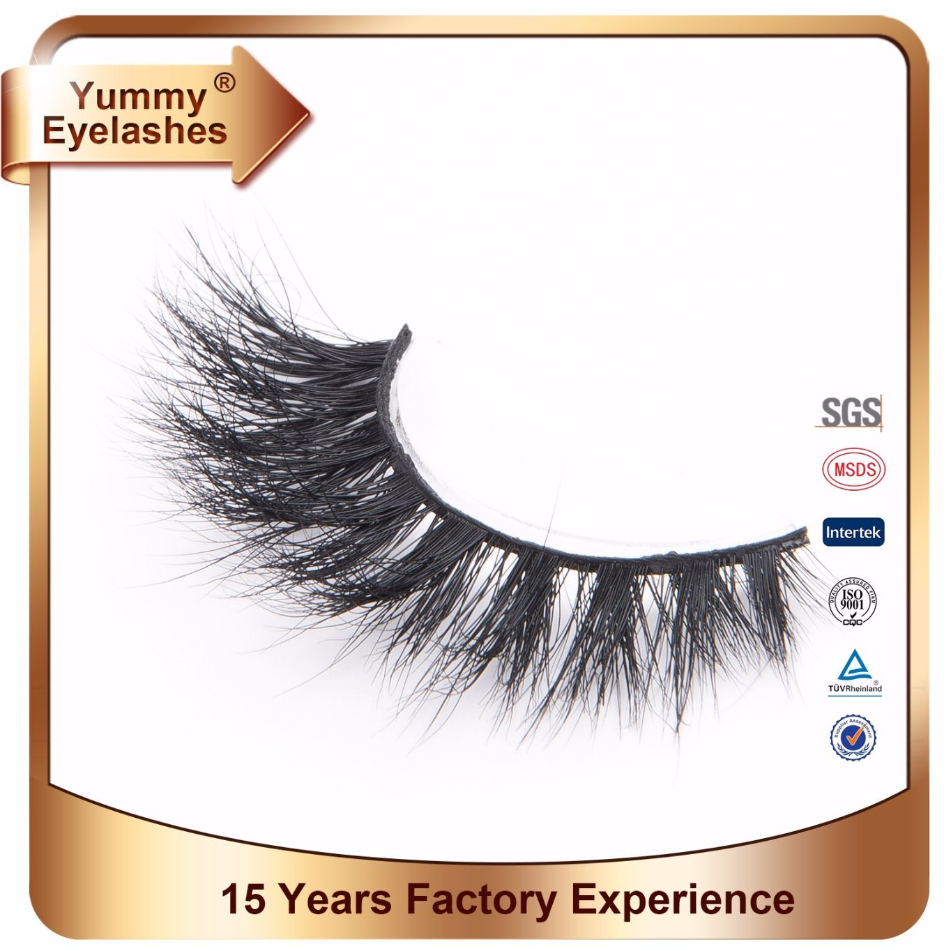 China Real Mink Fur 3d Mink Lashes Private Label Eyelashes China