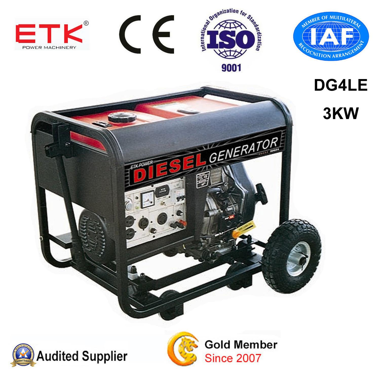 China 3kw Manual Key Electric Start Diesel Generator Set China