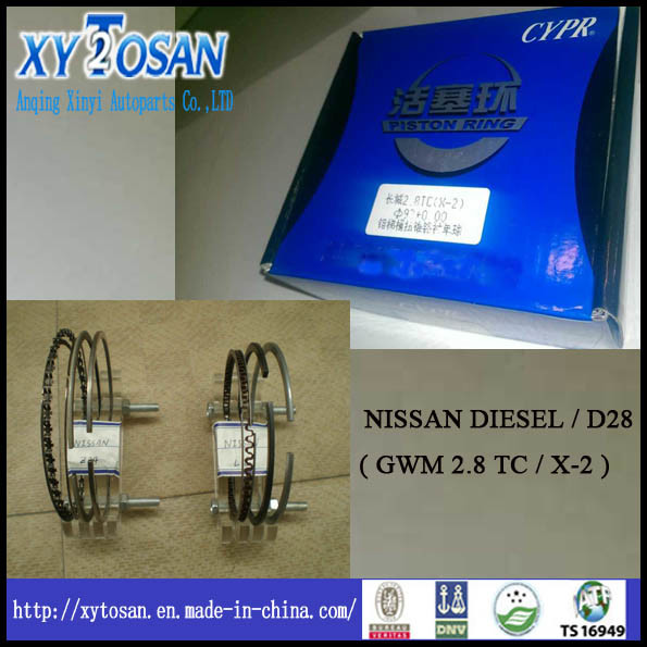 [Hot Item] for Nissan Diesel / D28 (2 8 TC / X-2) Piston Ring