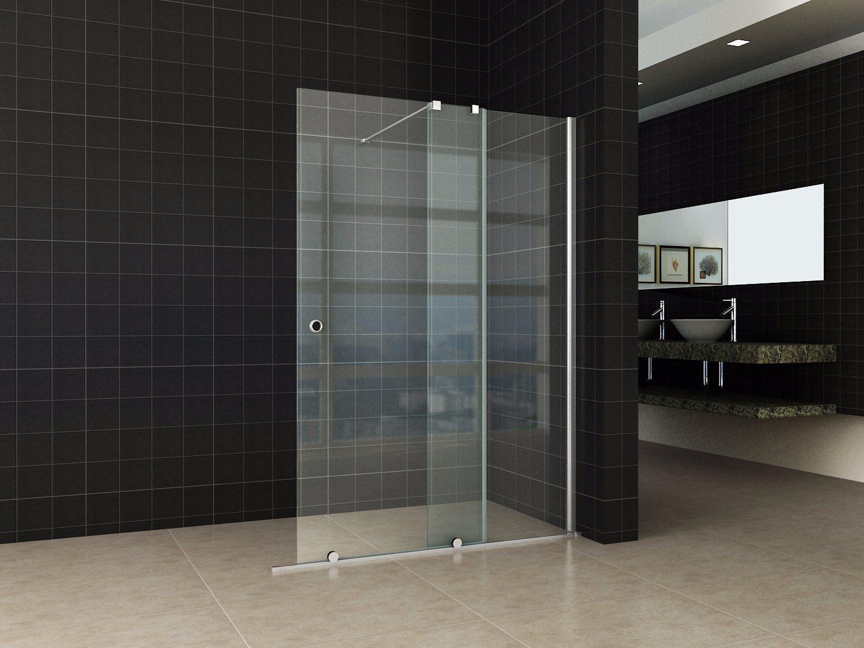 Hot Item Clear Tempered Glass Frameless Sliding Door Walk In Shower Screen Price