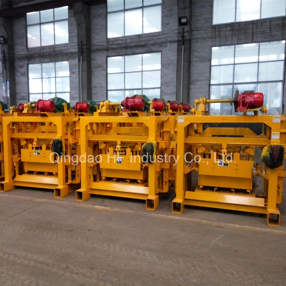 Manual Concrete Hollow Block Interlocking Brick Making Machine
