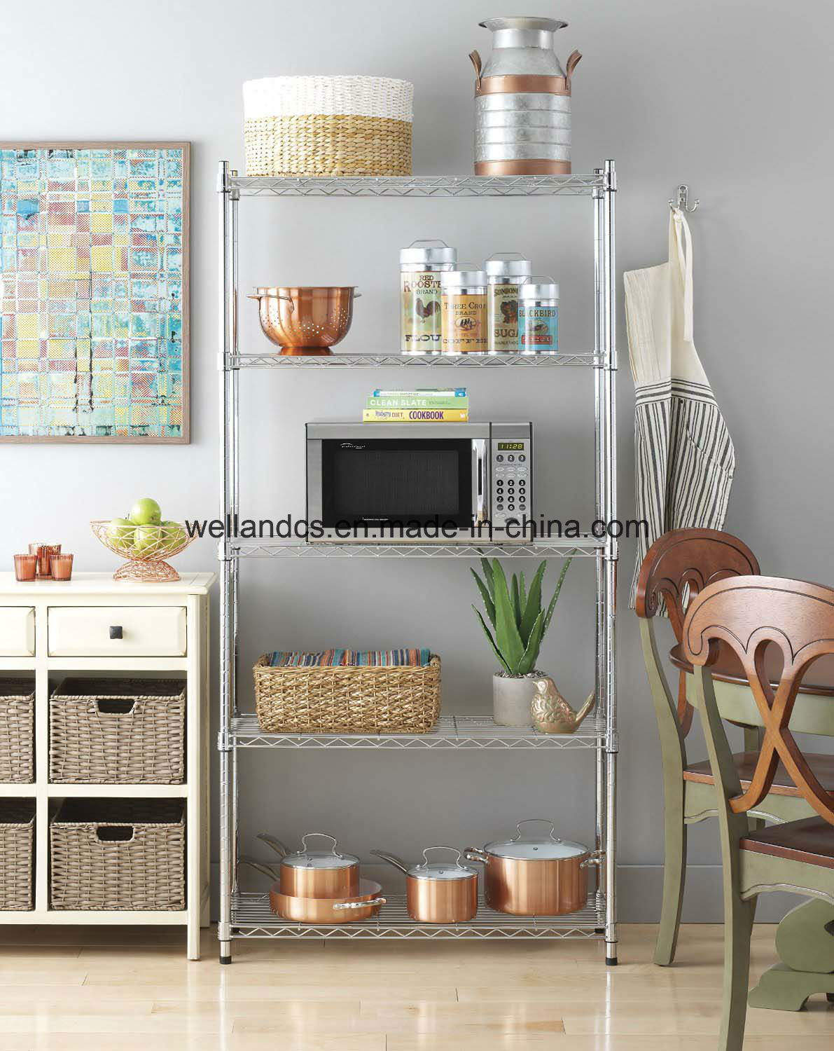 China Easy Embly 5 Tiers Household