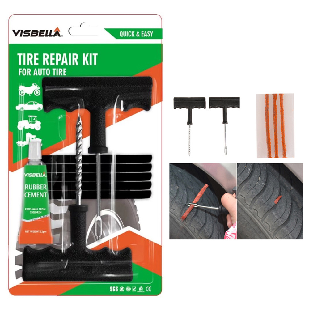 China Best Selling 2 Minutes Fix Tools Tubeless Tire Repair Kit For Auto Car