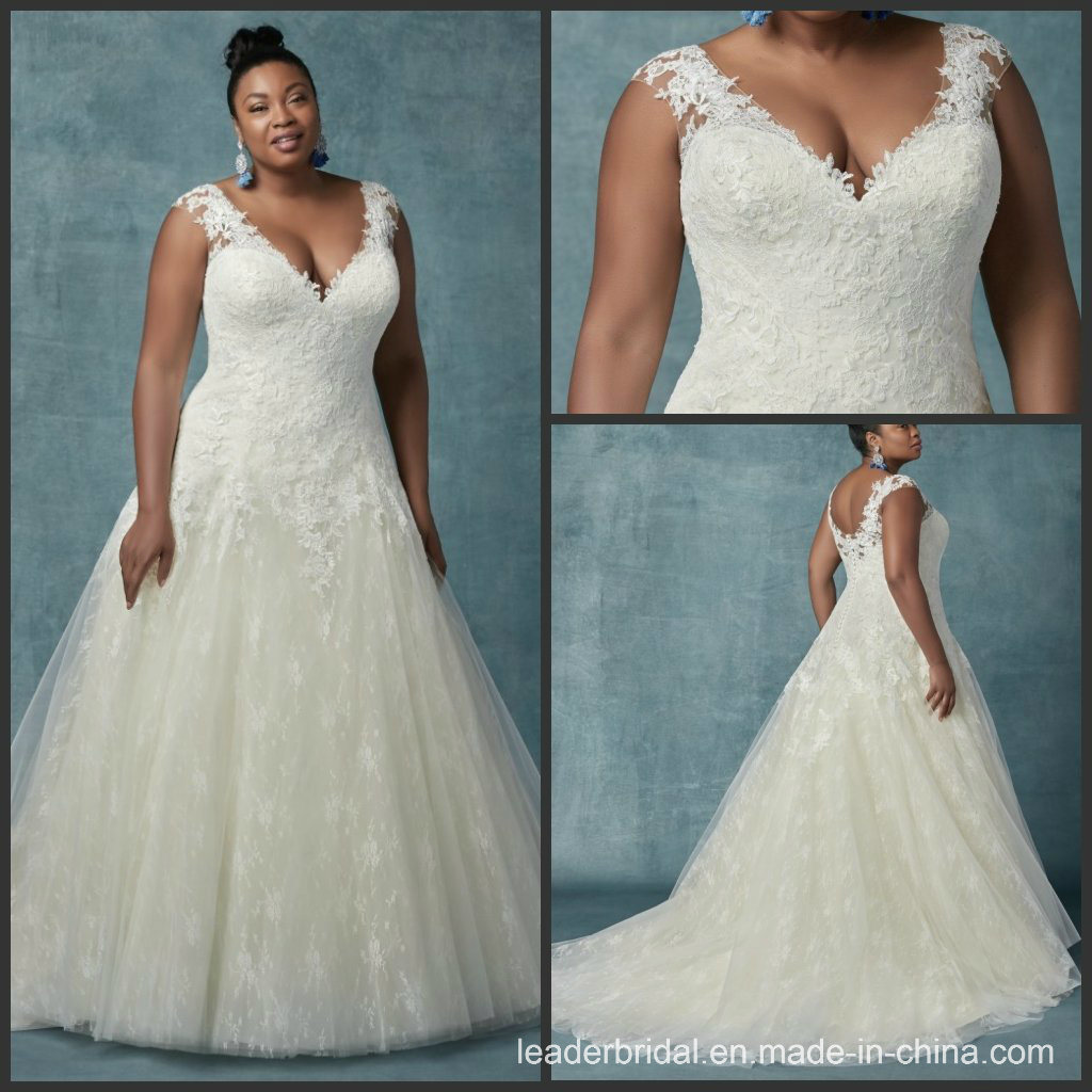 China A-Line Bridal Gown Custom Plus Size Lace Wedding Dress ...