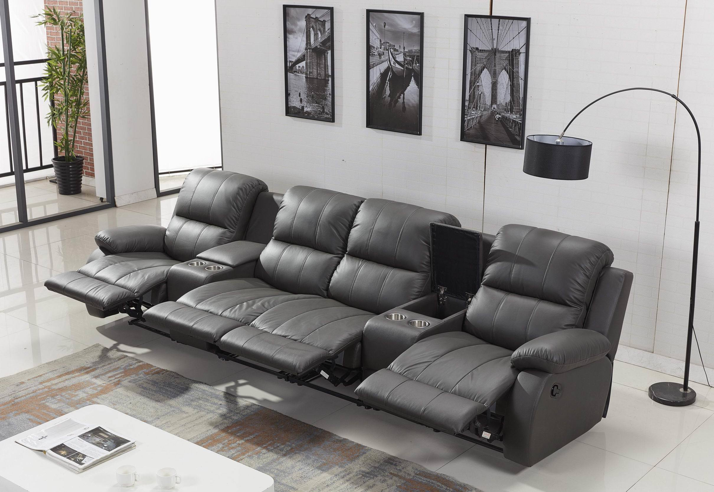 - China Leather Electric Recliner Sofa Of Recliner Massage Sofa And