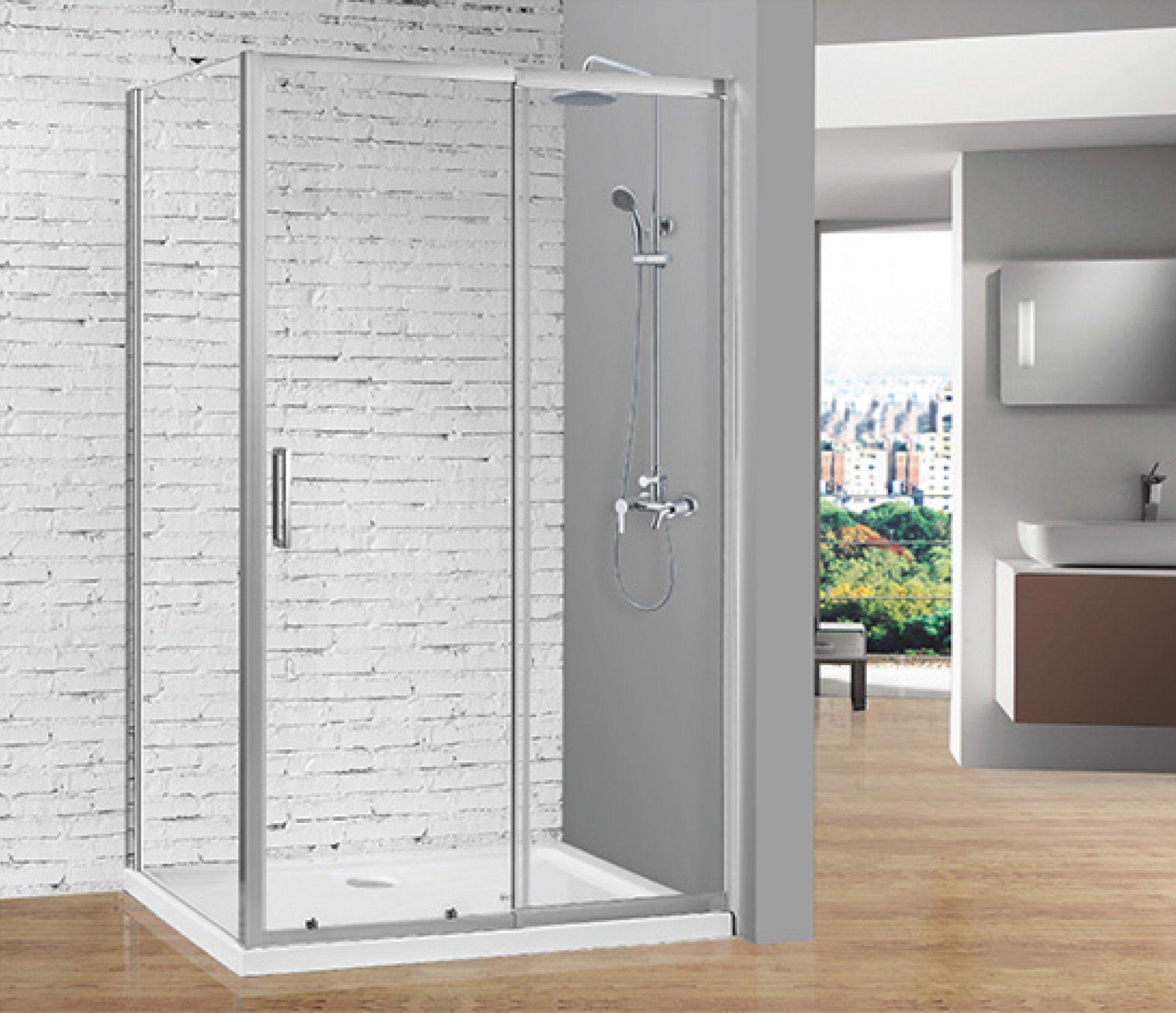 Hot Item Sally Telescopic Sliding Door Of 6mm Tempered Glass Hinge Shower Door With Big Adjustment
