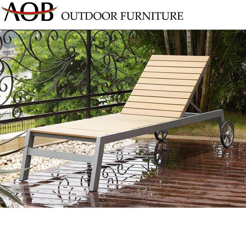 China Modern Outdoor Patio Hotel Home Resort Teak Furniture Lounge Beach Chair Adjustable Sun Lounger Sunbed China Garden Furniture Outdoor Chair