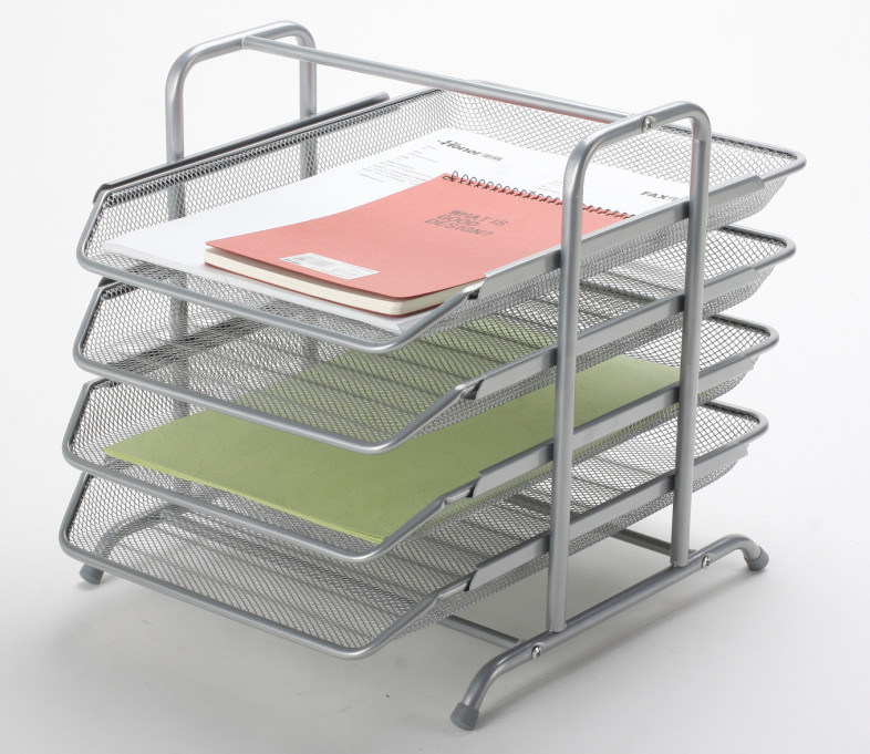 China Metal Mesh Stationery File Tray Office Desk Accessories