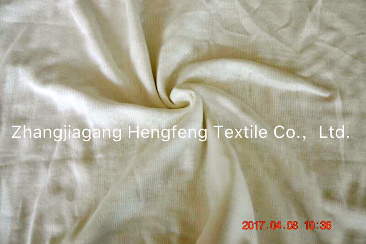 Flame Retardant Elastic Knitted Fabric 32%Modacrylic/ 60%Glass Fibre/ 8%Cotton
