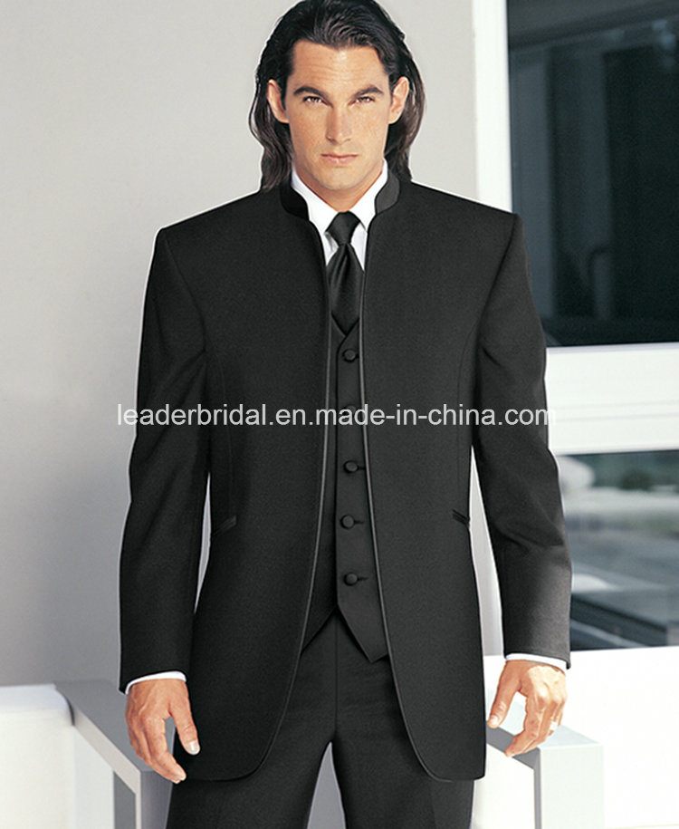 lowest discount new lower prices newest selection [Hot Item] New Groom Stand-up Collar Wedding Tuxedos Man Suit Groomsman Sz01