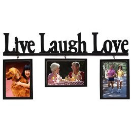 China Live Laugh Love Wood Word 3 Frame Set Black 4x6 China