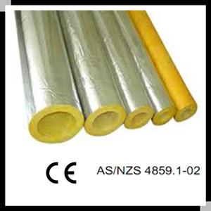 China Fiberglass insulation glass wool pipe shell aluminum
