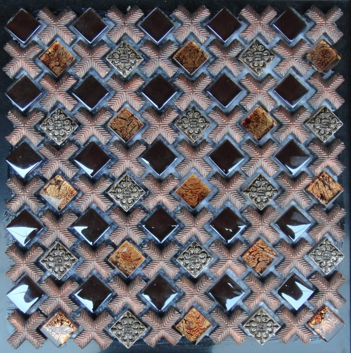 Hot Sale Glass and Resin Mixed Mosaic for Wall pictures & photos