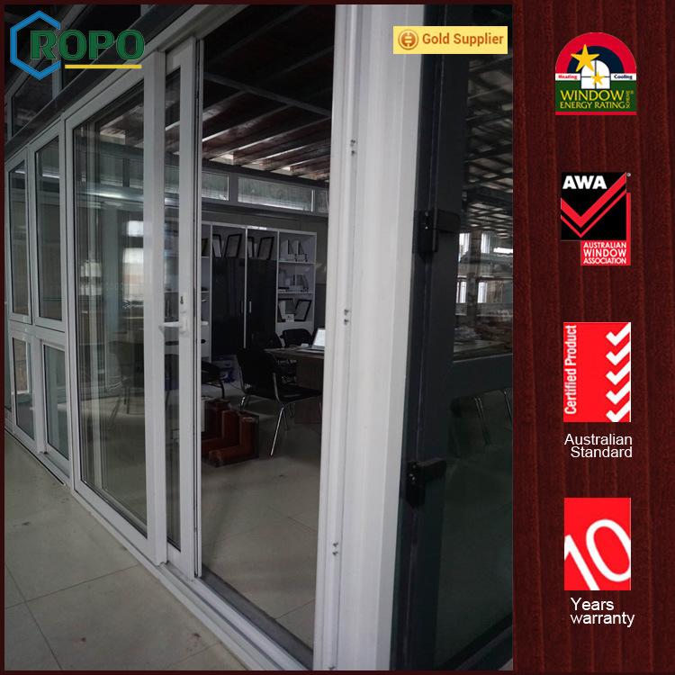 China German Veka Double Glazed Upvc Vinyl Patio Glass Sliding Door
