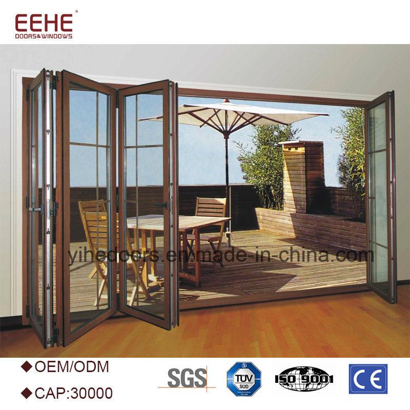 China Waterproof Aluminium Frame Bifold Sliding Glass Door Photos ...