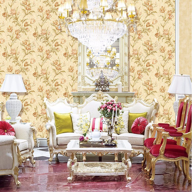 China Classic Embossed Floral Decoration Wallpaper - China Floral ...