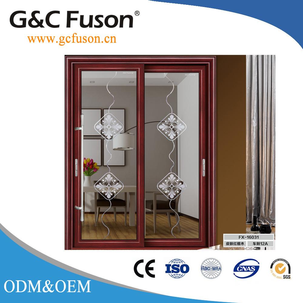 China 5mm Thick Tempered Glass Aluminium Sliding Doors Photos