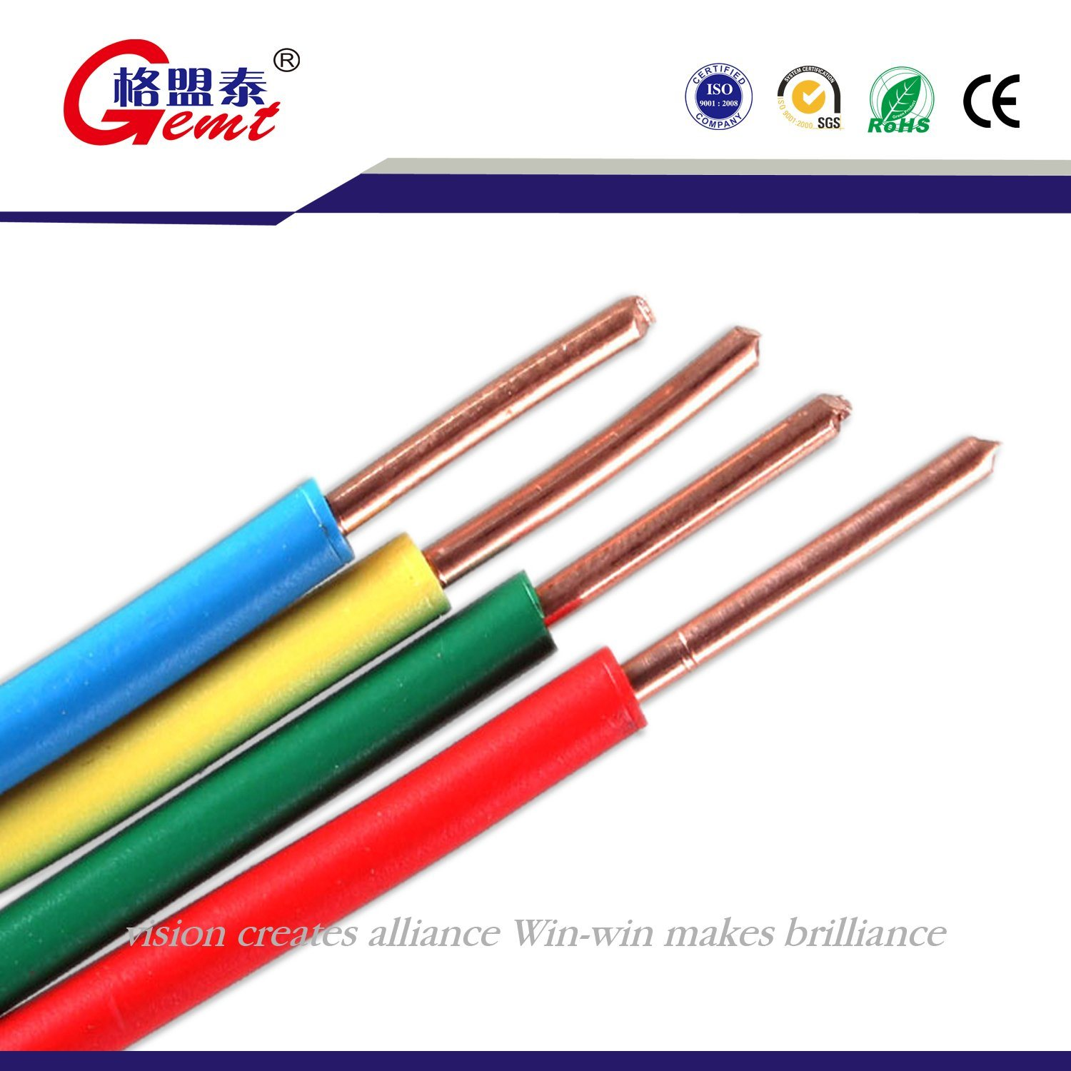 China Bv Wiring Electrical Cable Single Core 6mm Copper Wire Communication