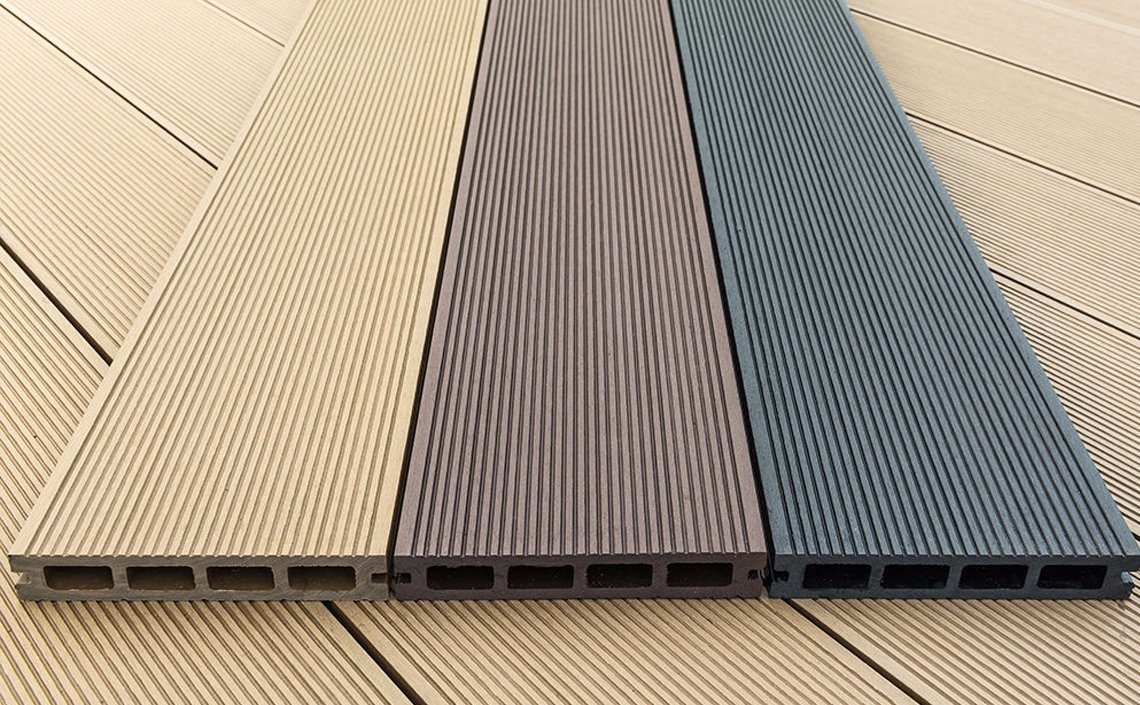 Synthetic Wood Plastic Patio Floor Chinese Composite Decking Grey Flooring China Outdoor Deck