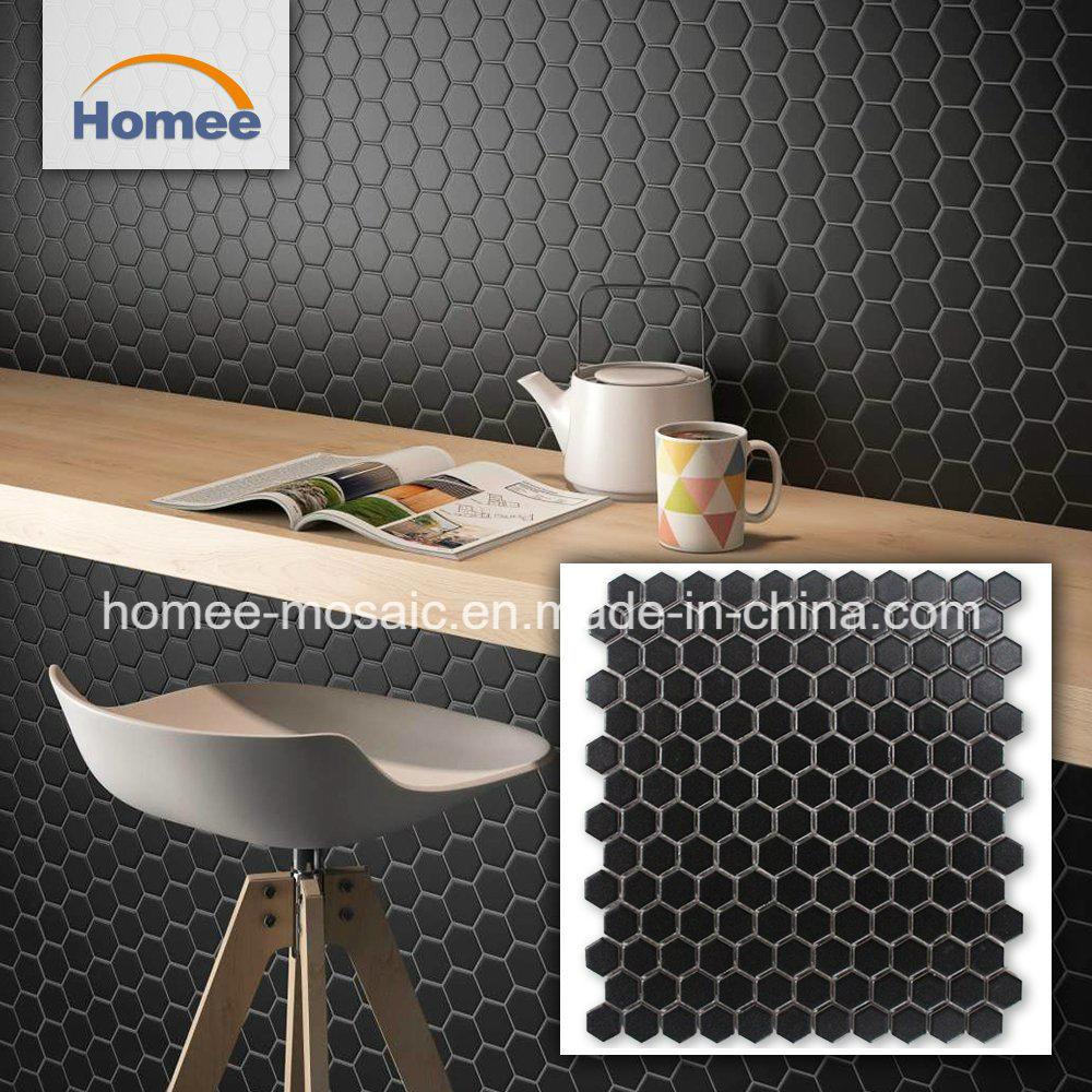 - China Kitchen Backsplash Good Price Matte Black Mosaic Tile