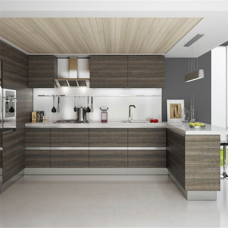Contemporary Kitchen Cabinet Design: 2018 China New Modern Furniture Glossy MDF Kitchen Cabinet