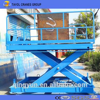 China Stationary Garage Car Elevator Scissor Type Portable Hydraulic