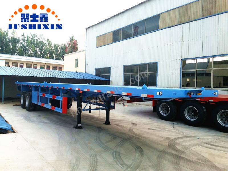 Flatbed Truck For Sale >> Hot Item 2 Axles 3 Axles 20ft 40ft Container Cargo Platform Flatbed Truck Semi Trailers Trucks For Sale In Kenya