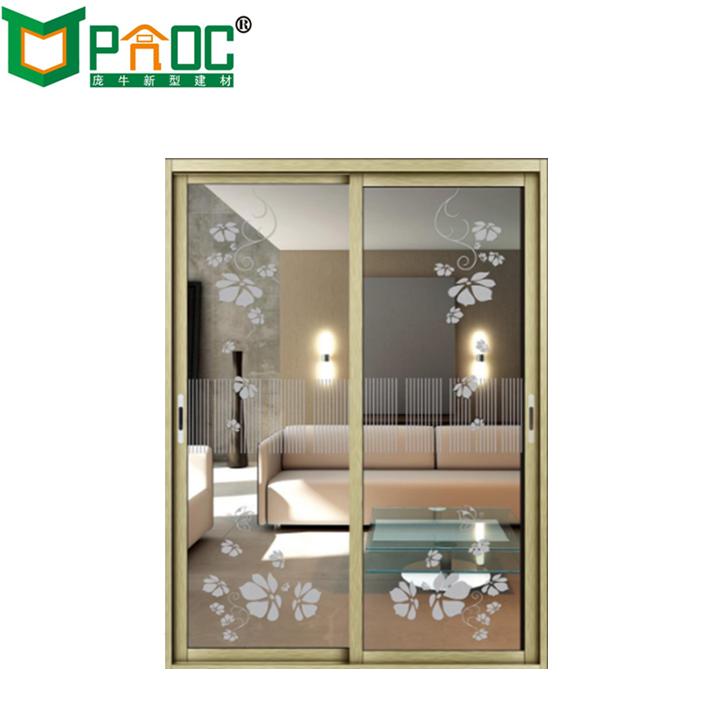 China Powder Coated Living Room Aluminum Glass Slidingslide Door