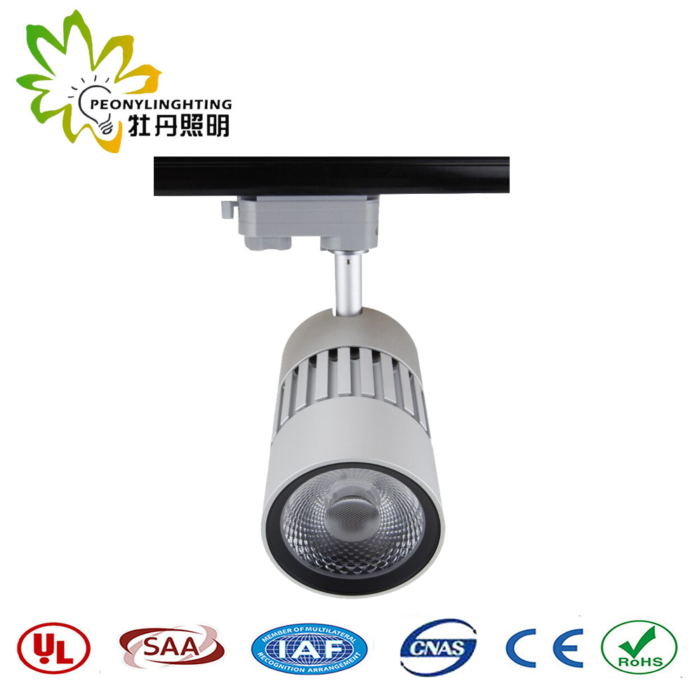 China 2 3 4 Wires Cob Led Track Spot Light 25w With 10 23 38 Degree Wiring 120vac Beam Angle