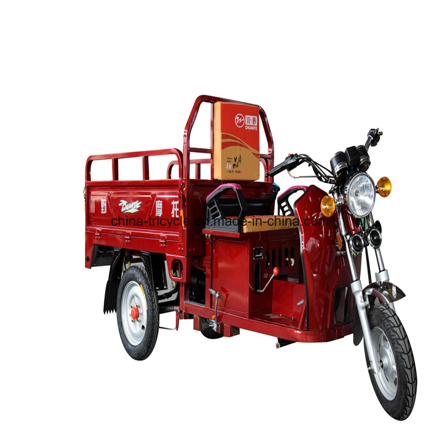 China 110cc Electric Start Hybrid Three Wheel Cargo Truck Tricycle Farm Trike Wheeler