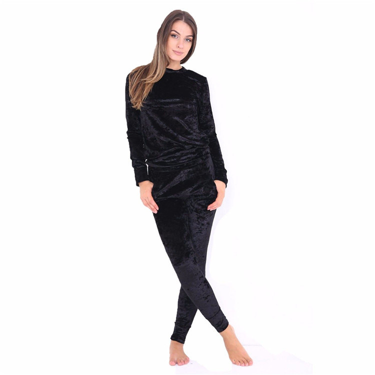 China 2018 Custom Made Ladies Fashion Velour Tracksuit Photos ... 1e79d8b19cbd