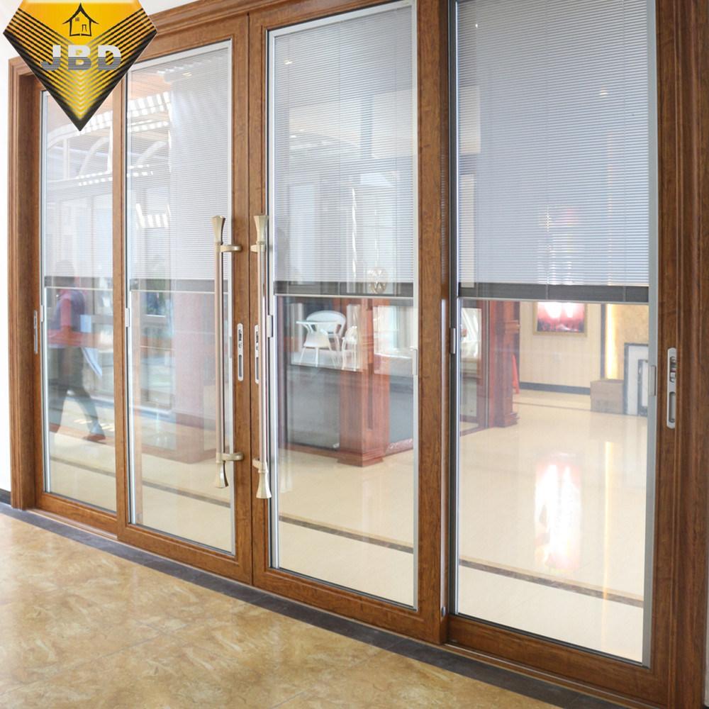 China Aluminium Soundproof Door With Double Glazing Glass Doors