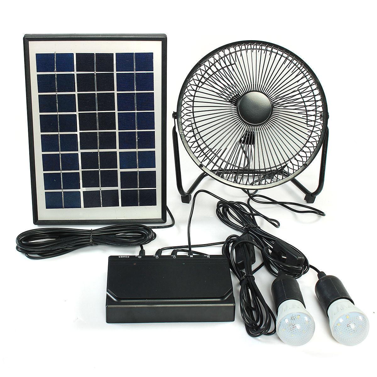 Solar Power Fan >> Hot Item Solar Power Led Light With Fan Kit Dc Solar Fan With Mobile Charger