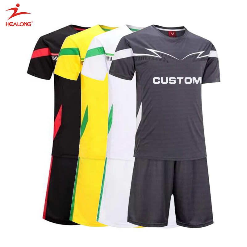 buy popular 1a2c5 4dffe [Hot Item] Healong Custom Soccer Uniforms Wholesale Sublimation Cheap Gray  Man Soccer Set