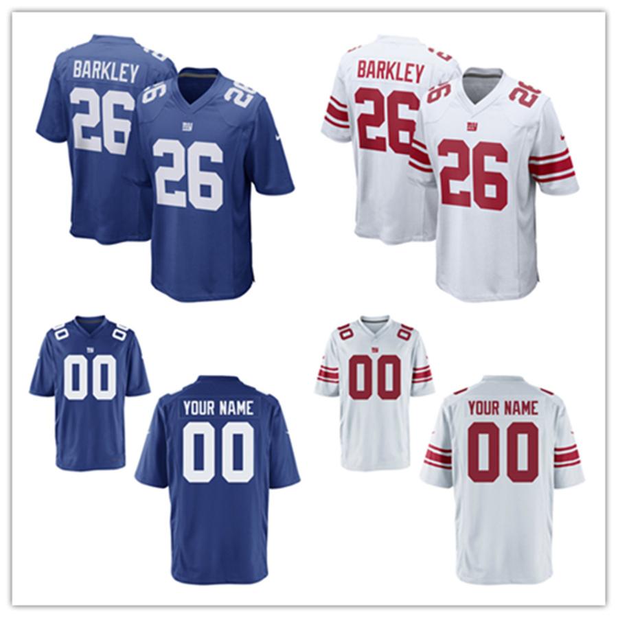 sale retailer 13f3f 2857b [Hot Item] Custom Customized Giants Jerseys 26 Saquon Barkley Football  Jerseys